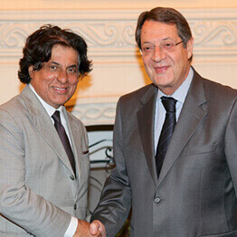 Entrepreneur Tej Kohli meeting with the President of Cyprus, Nicos Anastasiades.