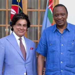 Philanthropist Tej Kohli meeting with President of Kenya, Uhuru Kenyatta.