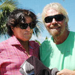 Technology Entrepreneur Tej Kohli pictured with the founder of the Virgin Group, Richard Branson.