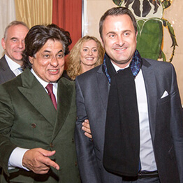 Tej Kohli meeting with Xavier Bettel, the Prime Minister of Luxembourg.