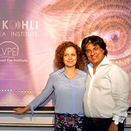 Tej Kohli with wife Wendy at the launch of the Tej Kohli Cornea Institute.