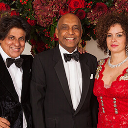 Tej and Wendy Kohli with The Founder of the LV Prasad Eye Institute Dr Gullapalli N Rao.